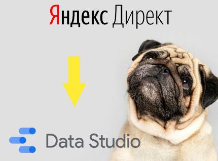 Яндекс Директ баланс в Google Data Studio   коннектор Seodogs.ru